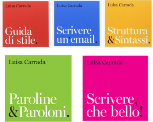 I 5 nuovi libri di Luisa Carrada, perché scrivere non è mai stato così bello